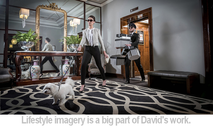 Lifestyle imagery is a big part of David's work.