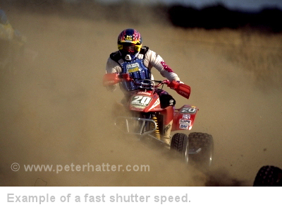 fast shutter speed example