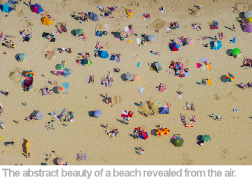 The abstract beauty of a beach revealed from the air.
