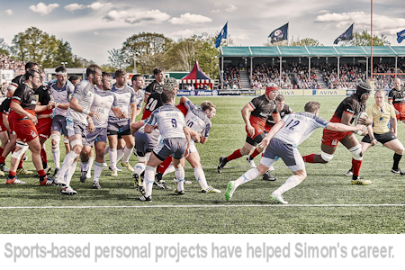 Simon Stock is also a sports photography specialist.